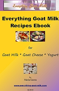 Everything Goat Milk Recipe Ebook Cover