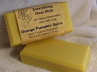Orange Pumpkin Spice Goat Milk Soap