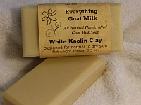 White Kaolin Clay Goat Milk Soap