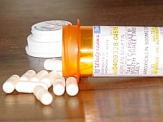 Antibiotics and medicine bottle