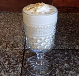 Cream pie shake made with goat milk