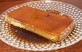 Flan loaf on plate