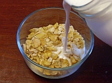 Goat milk kefir on cereal