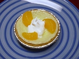 Quark tart with cream and mandarin oranges