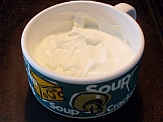 Homemade sour cream from kefir