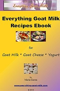 Goat Milk Recipe Ebook Cover