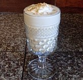 Cream pie milkshake made with goat milk