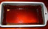 Pan coated with caramelized sugar