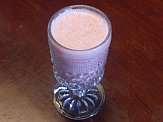 Goat milk kefir strawberry drink