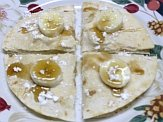 Banana goat cheese quesadilla