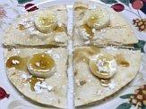 Banana goat cheese quesadilla