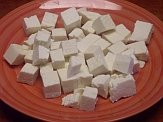 Goat milk queso blanco cubes